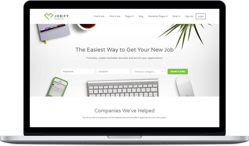 قالب Jobify صفحه اصلی